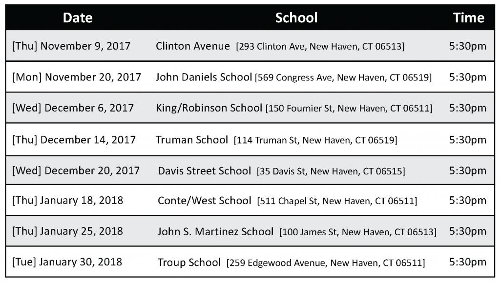 All FSN dates 2017-18